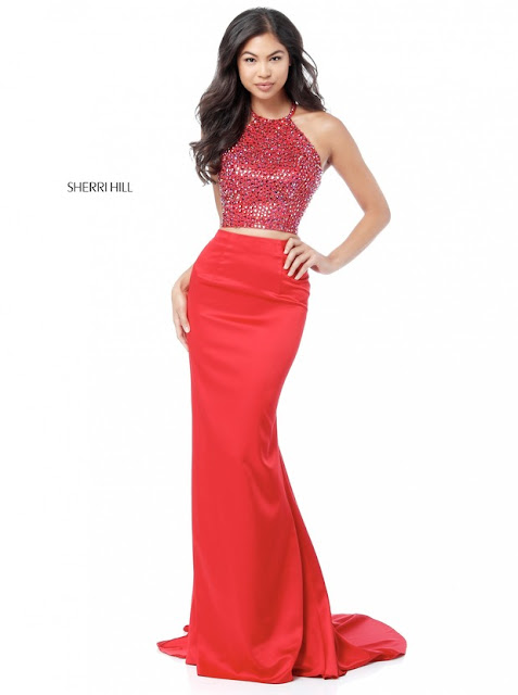 6daa0c1179c Sherri Hill Style 51647 Two Piece 2018 Evening Gowns Red