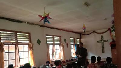 Satgas Pam Rahman  Yonif 315 /Garuda Pos Tsinga Mengajar Sekolah Minggu Di Gereja GKIP Beanekogom  Papua