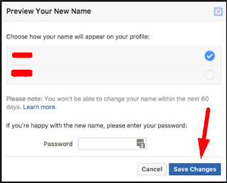 How To Name Change In Facebook