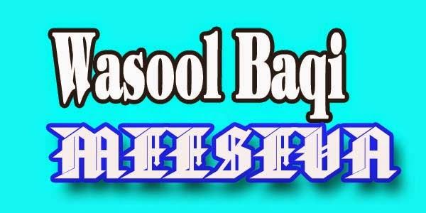 Wasool Baqi Apply Meeseva