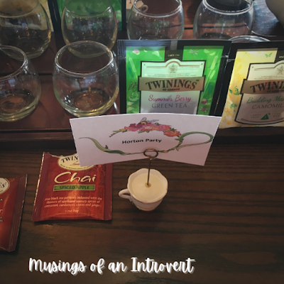 Twining tea packets during the tea experience at the Rose & Crown Pub in Epcot UK