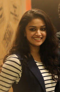 Keerthy Suresh in Black and White Dress with Cute and Awesome Lovely Smile