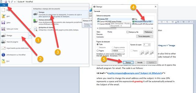 salvare documento in PDF