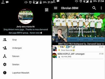 Download BBM Mod Black White Color - Base Offical v3.0.0.18 Apk