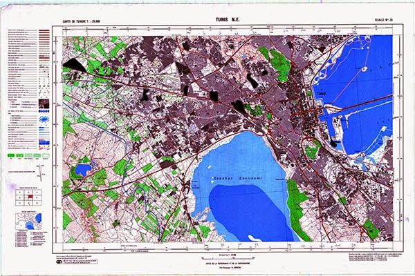 خرائط طبوغرافية تونسية 25000 Cartes Topographiques de tunis