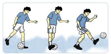Teknik dan Variasi Mengumpan Dalam Permainan Sepak Bola Dengan Menggunakan Kaki Dalam, Kaki Luar, dan Punggung Kaki