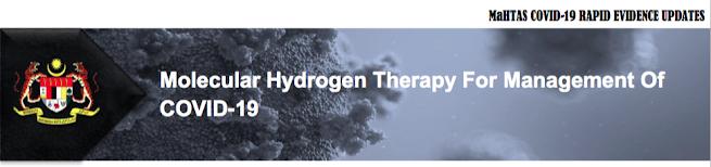 molecular hydrogen COVID-19 malaysia