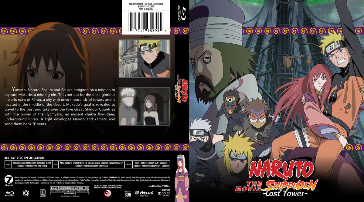 naruto shippuden the movie 4 the lost tower subtitle
