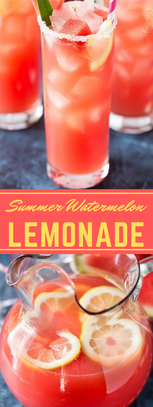 SUMMER WATERMELON LEMONADE #sangria #cocktail #party #healthydrink #fresh