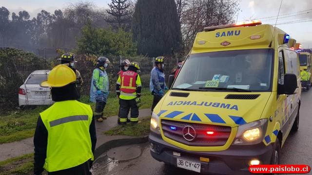 Osorno: Accidente de tránsito en calle Chorrillos
