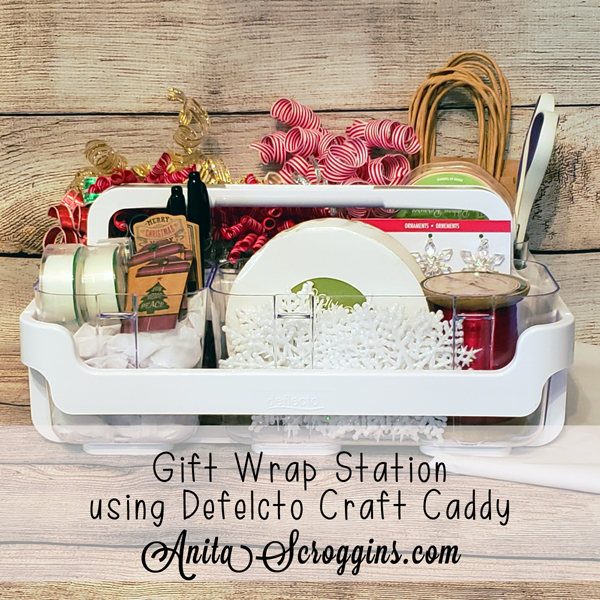 Portable gift wrapping station