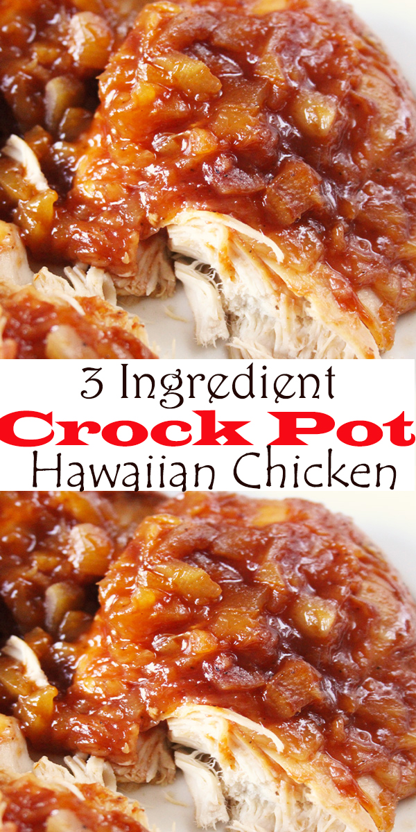 3 Ingredient Crock Pot Hawaiian Chicken #3Ingredient #CrockPot #Hawaiian #Chicken #3IngredientCrockPotHawaiianChicken