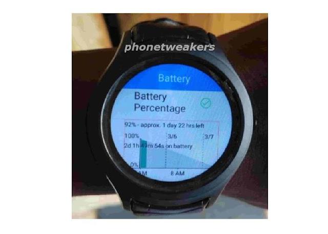 No.1 D5+ Smartwatch battery usage