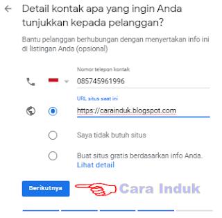 Nomor telepon google bisnisku