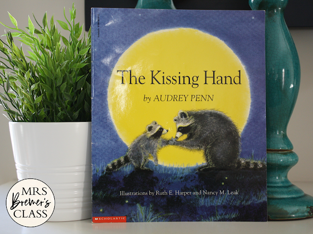 The Kissing Hand book study activities unit with Common Core aligned literacy companion activities and a craftivity for Kindergarten and First Grade