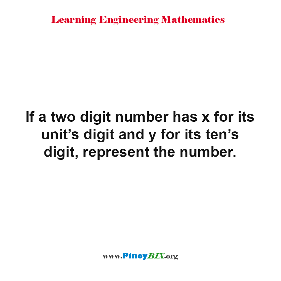 How to represent a two digit number?