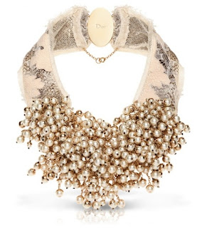 chunky, statement pearl necklace by Dior