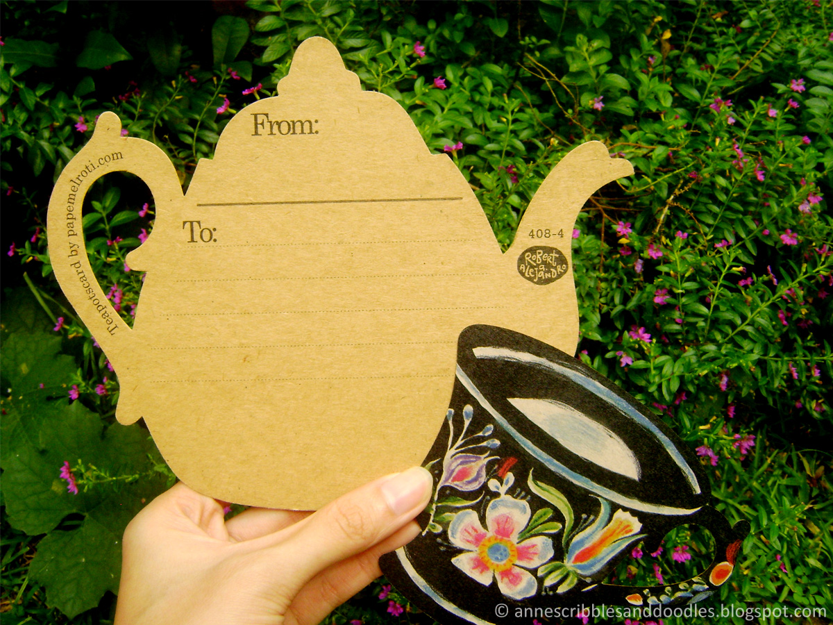 Papemelroti Teapot and Teacup Postcard