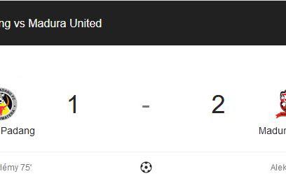 Skor Akhir Pertandingan Semen Padang Vs Madura United 20 Oktober 2019