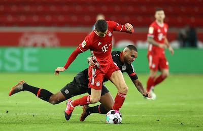 ملخص واهداف مباراة بايرن ميونخ وليفركوزن (2-1) الدوري الألماني