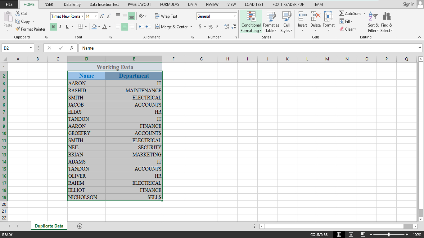 Highlight Duplicate Value In Excel