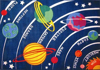 LA Rug Solar System Rug