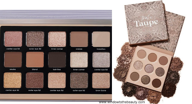 Natasha Denona Glam vs Colourpop That's Taupe
