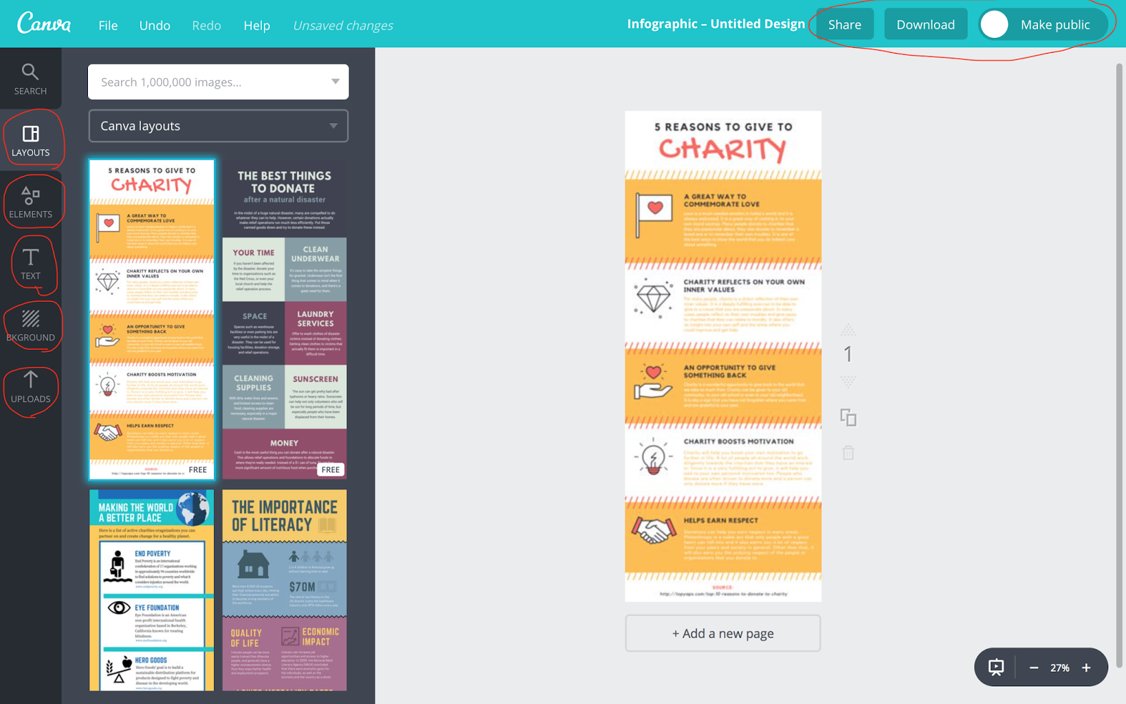 XiaohanZang's Blogger: How to use Canva to construct the