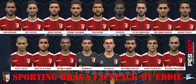 PES 2017 Facepack Sporting Braga by Eddie Facemaker