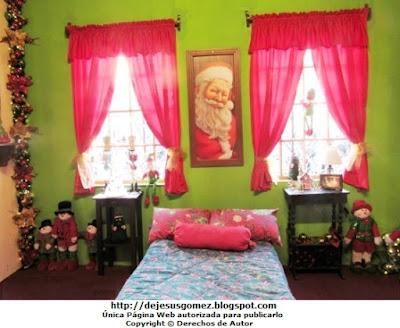 Casa de Papa Noel (Santa Claus), dormitorio de su Casa en la Villa de Papa Noel. Foto del Dormitorio de Papa Noel tomada por Jesus Gómez