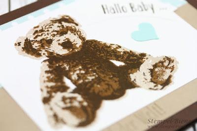 Stampin' Up unentbärliche Grüße; Babykarte Jungs; Matchthesketch; Stempel-Biene; Taufkarten; Babyparty; Kindergeburtstag;