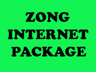 Best Zong monthly internet package in 2020