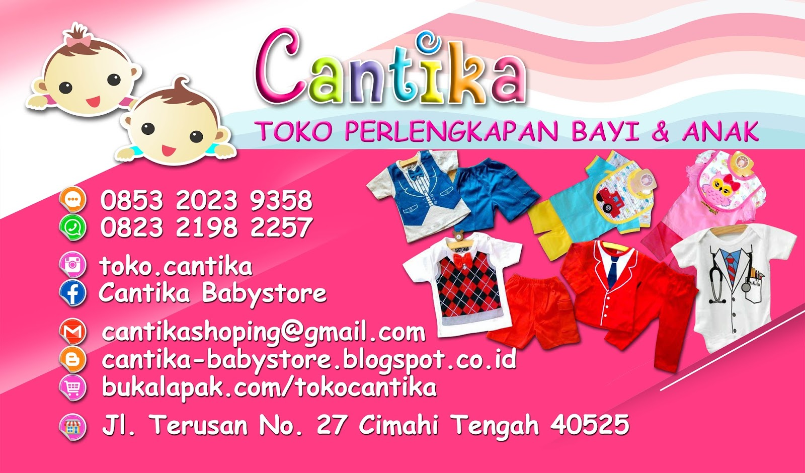 7 Contoh Banner Toko Baju Anak - Contoh Banner
