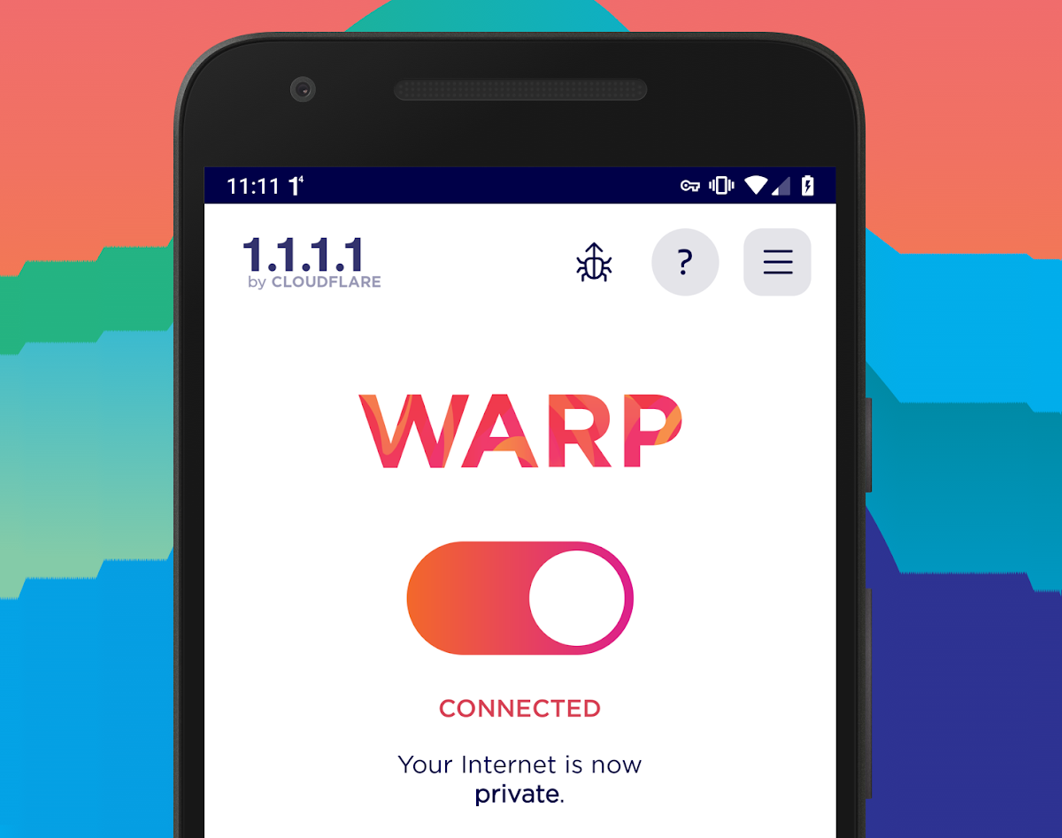 WARP is a mobile app designed for users to secure their phone's Internet traffic.