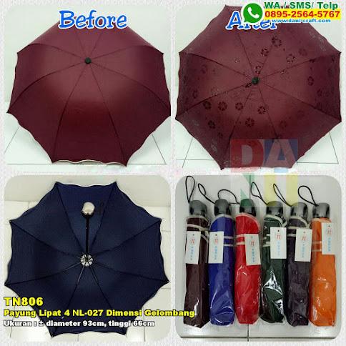 Payung Lipat 4 NL-027 Dimensi Gelombang