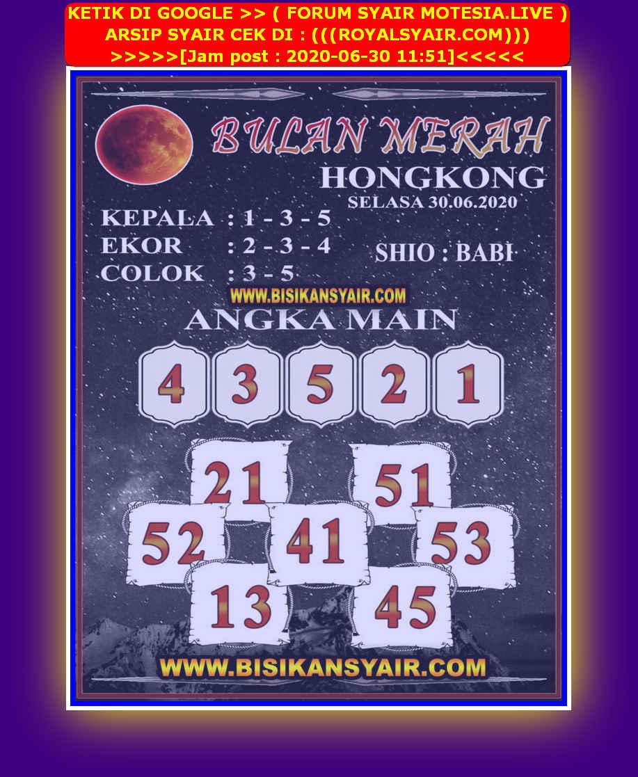 Kode syair Hongkong Selasa 30 Juni 2020 207