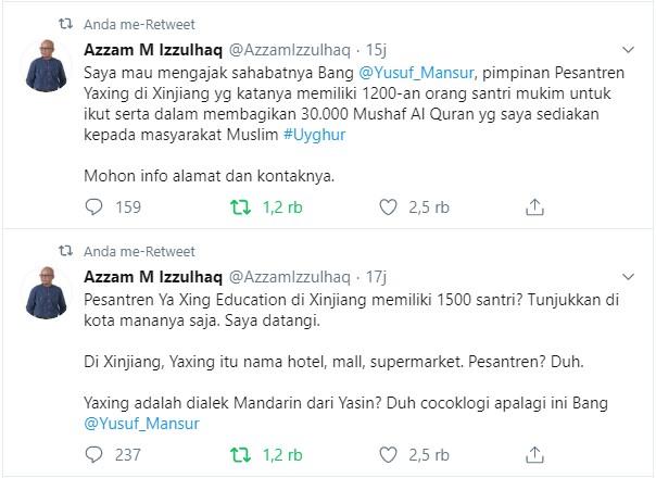 Ustadz Yusuf Mansur tentang Uighur Yang Tuai Kritikan