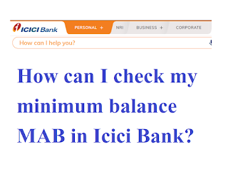 Where does the option to Check My MAB appear in icici imobile app in Hindi