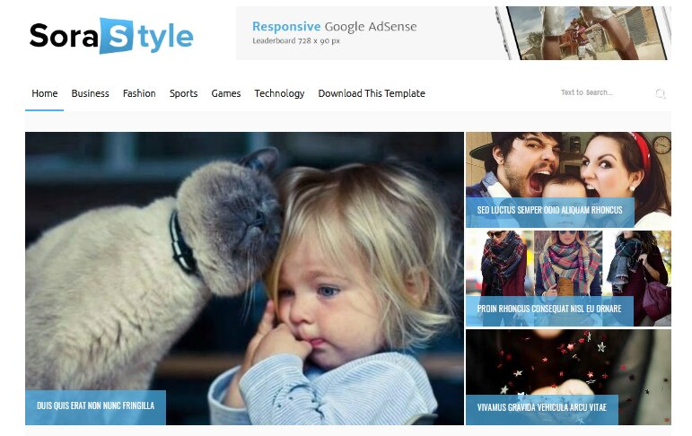Sora Style Blogger Template