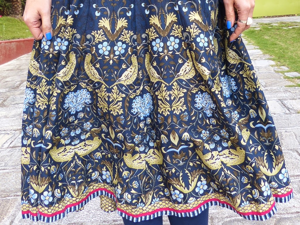 Loose Covers For Queen Anne Chairs Mid Century Modern Rocking Chair Uk Local Style William Morris Inspired Anarkali Dress