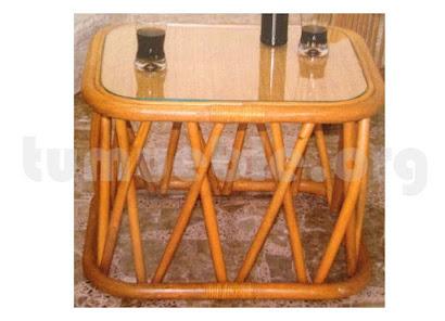 mesa de centro hecho en rattan j57