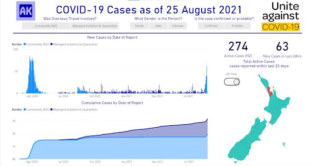 screenshot Power BI report page