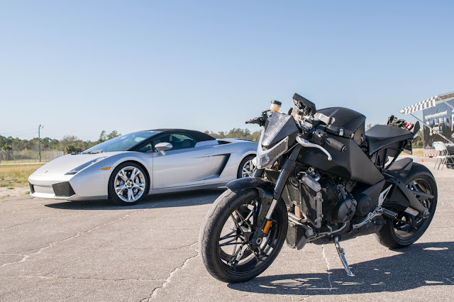 2014 ebr 1190rx and Lamborghini.