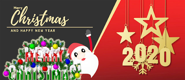 Merry Christmas & happy new year 2020 image