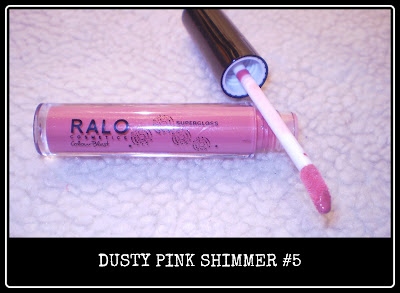 Dusty pink shimmer lipgloss