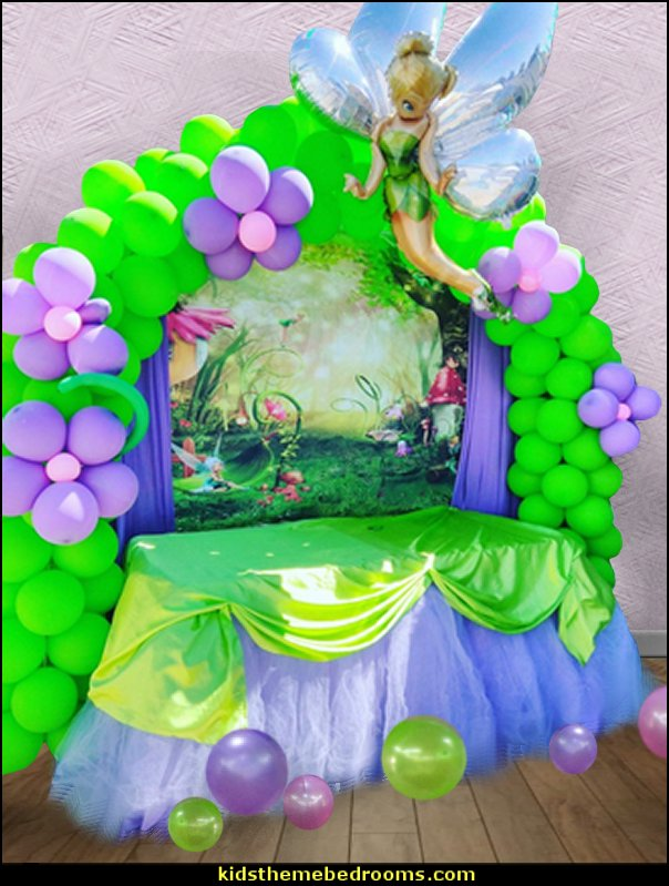 Parties Events Fairy Balloons Tinkerbell Fairy Party Balloons Princess Party Girl Birthday Party Balloons Kids Crafts