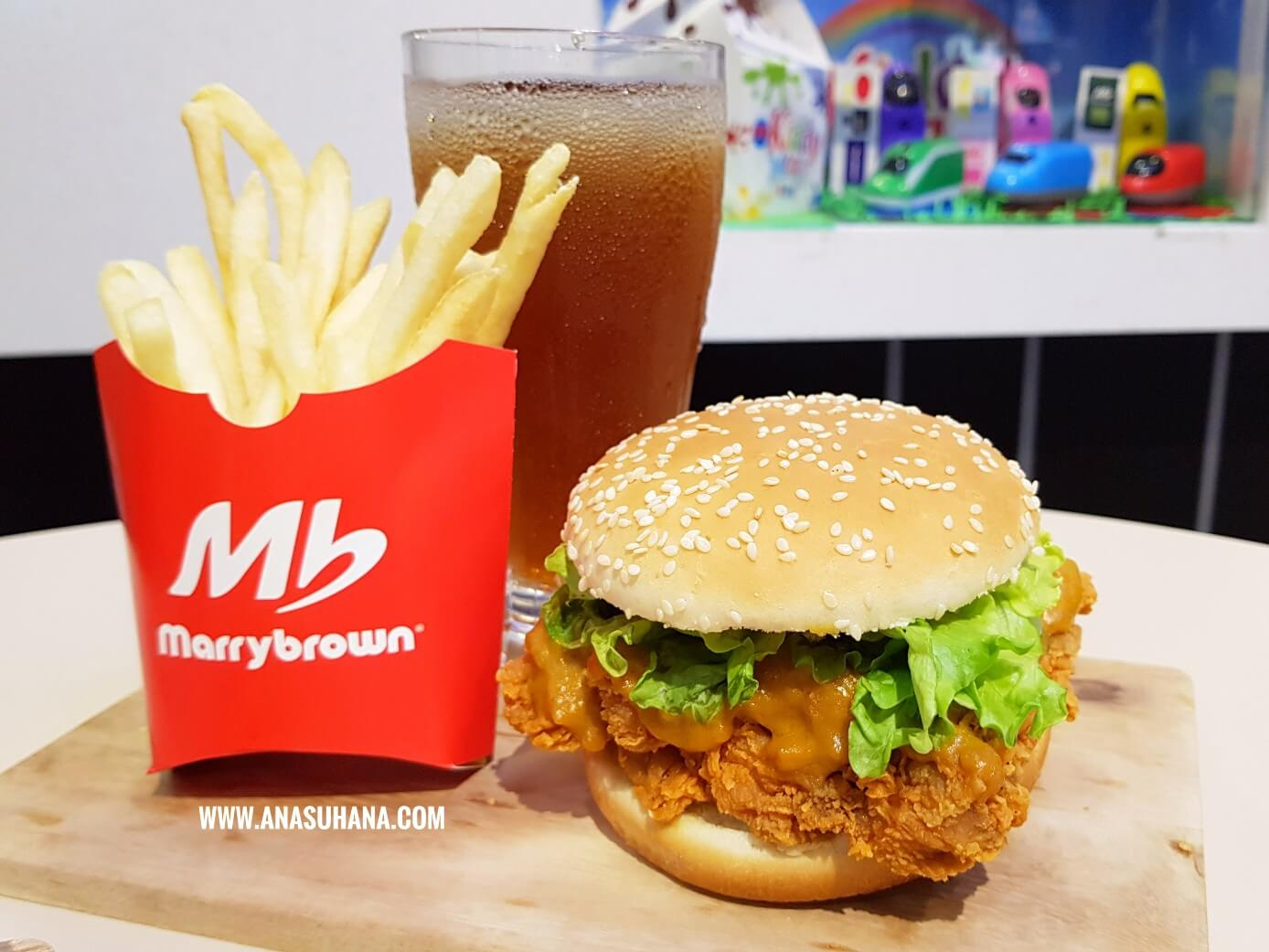 Salted Egg Burger dan Salted Egg Ayam Menu Terbaru Marrybrown