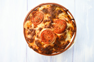 Bolognese Potato Bake, baked until golden