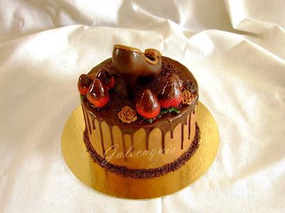 tarta con zapato para el día de la madre