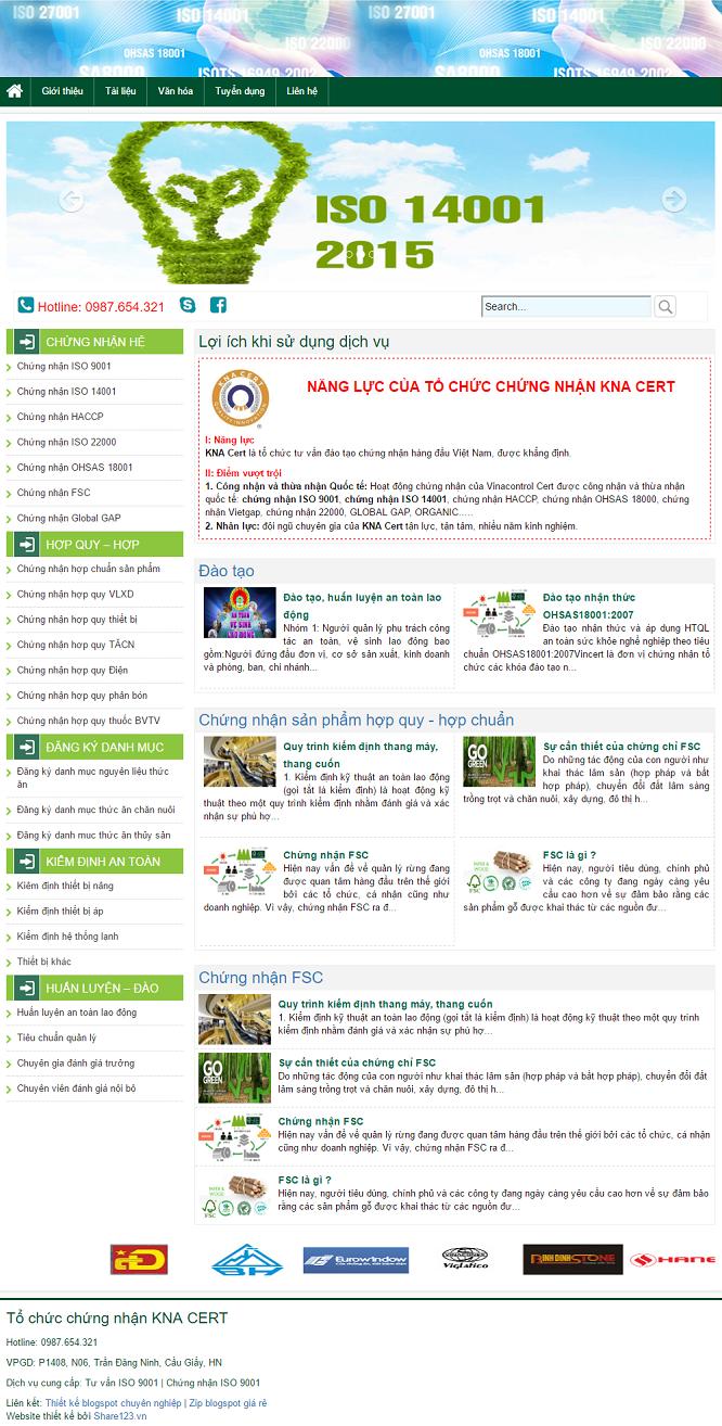 Mẫu template blogger giới thiệu dịch vụ 00046